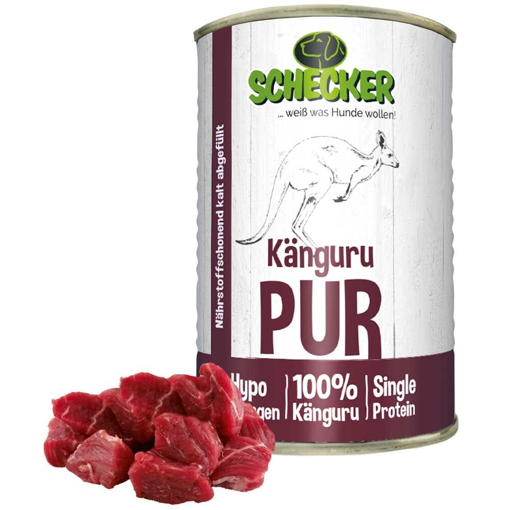 DOGREFORM Känguru PUR, 24 x 400 g Hundefutter, Nassfutter, Dosenfutter