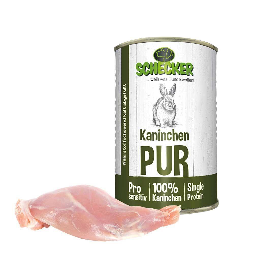 Kaninchen - PUR, 24 x 410 g  Dosenfutter, Hundefutter