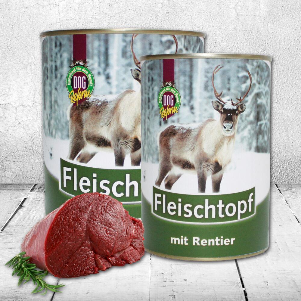 DOGREFORM Fleischtopf mit Rentier, 6 x 410 g