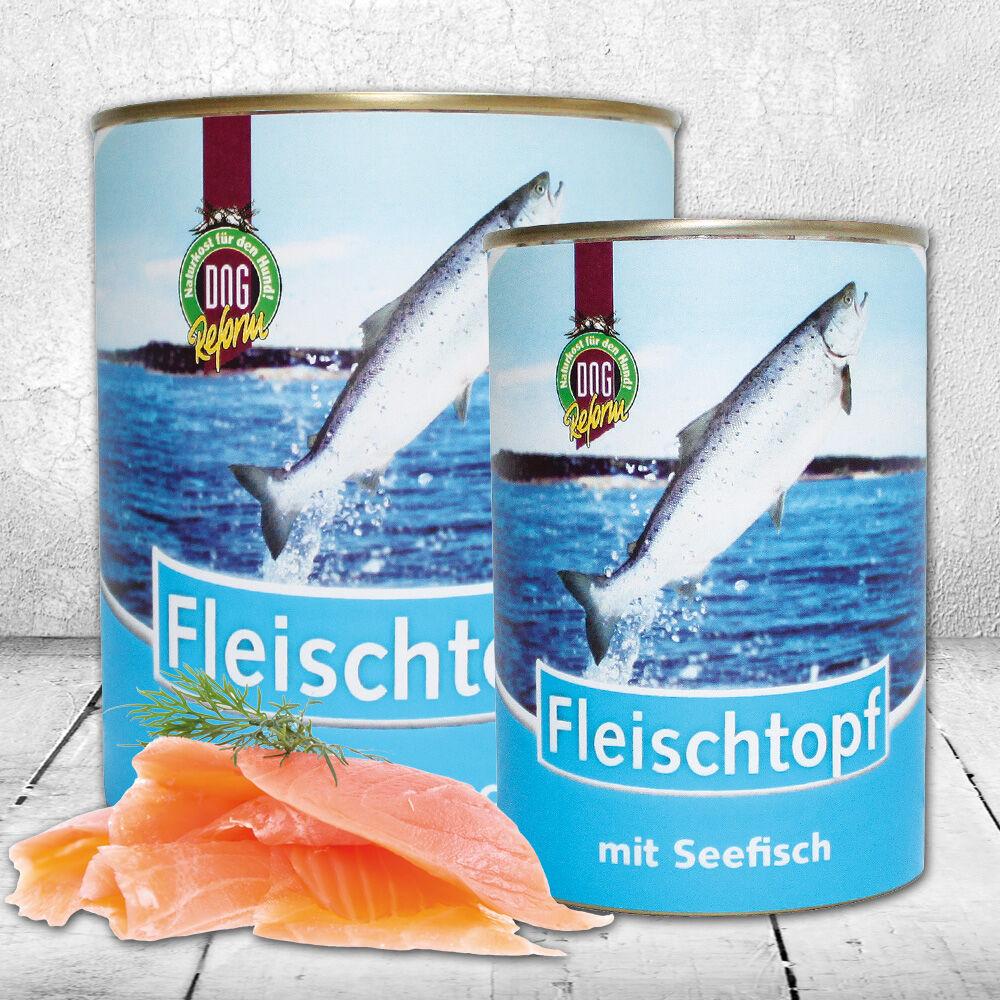 Schecker DOGREFORM Fleischtopf mit Seefisch, 3 x 820 g