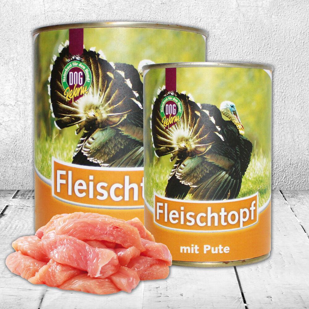 Schecker DOGREFORM Fleischtopf mit Pute, 3 x 820 g