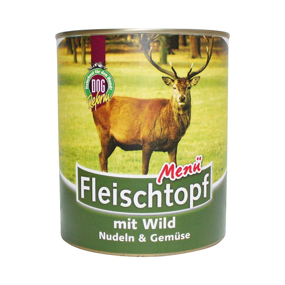 Schecker  DOGREFORM Fleischtopf-Menü Wild, Nudeln & Gemüse, 1 x 820 g