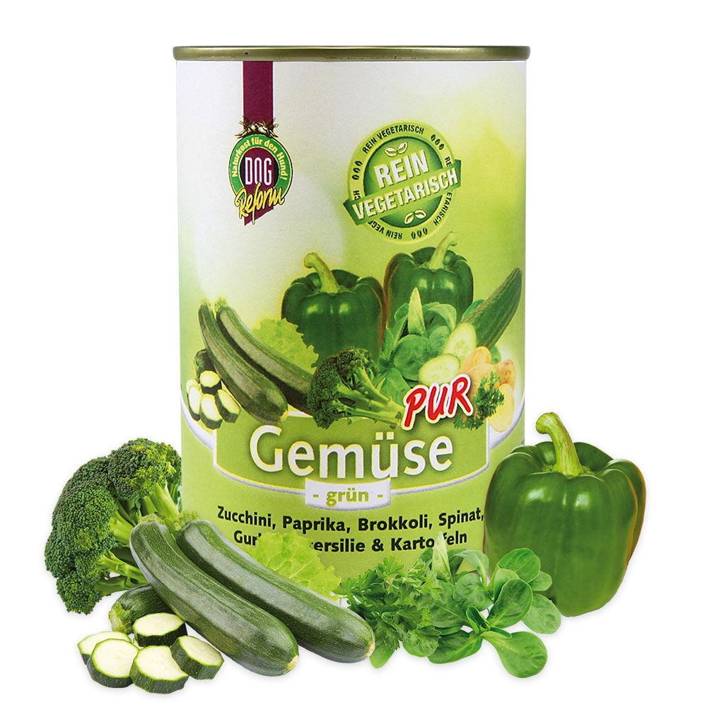 Dogreform Gemüse PUR, grün, 12 x 410 g