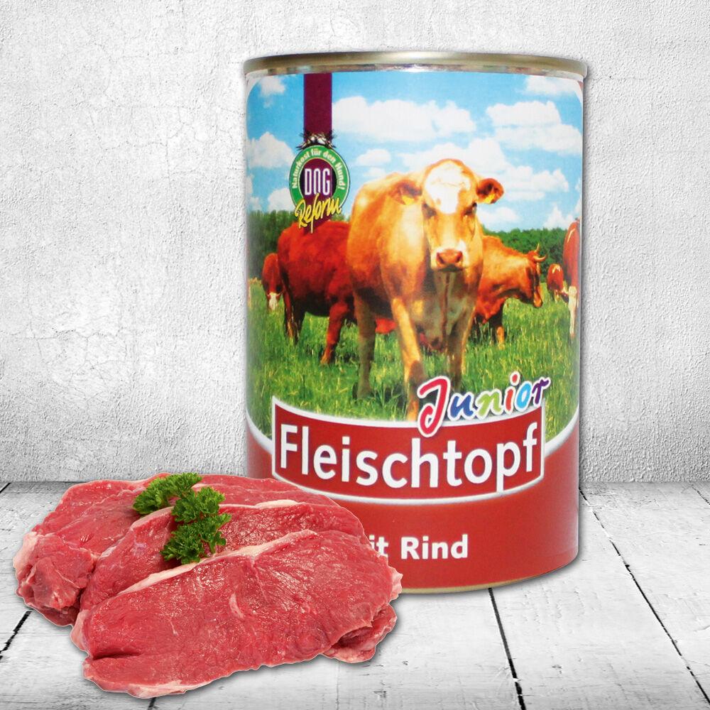 Schecker DOGREFORM Fleischtopf Junior mit Rind, 3 x 410 g