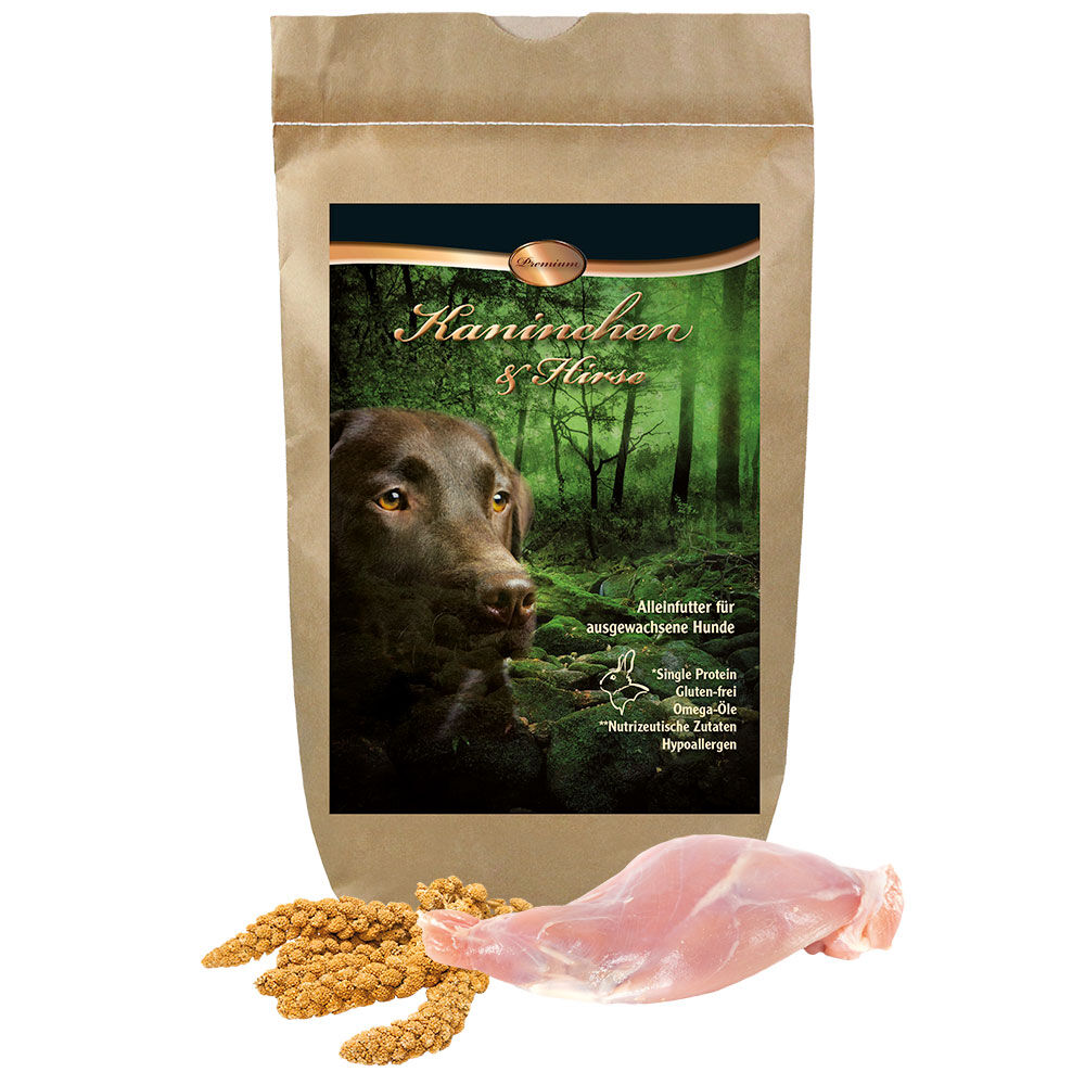Schecker Premium Kaninchen & Hirse, 12 kg