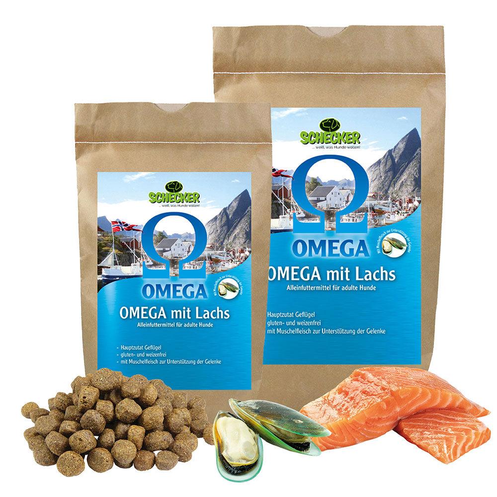 Omega 3+6 Lachs, mit Geflügel und Muschelfleisch   -  1,5kg