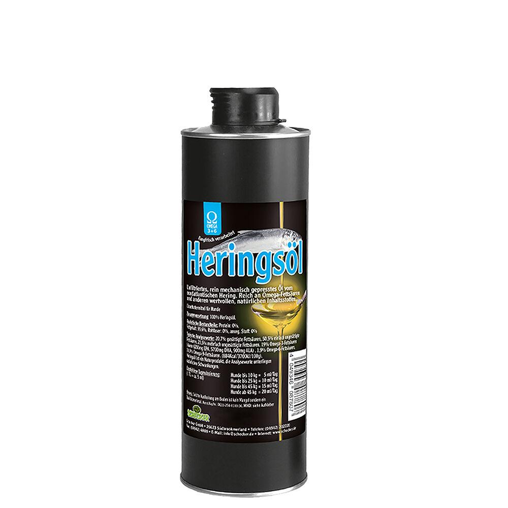 Heringsöl, Futteröl für glänzendes Fell - 500 ml