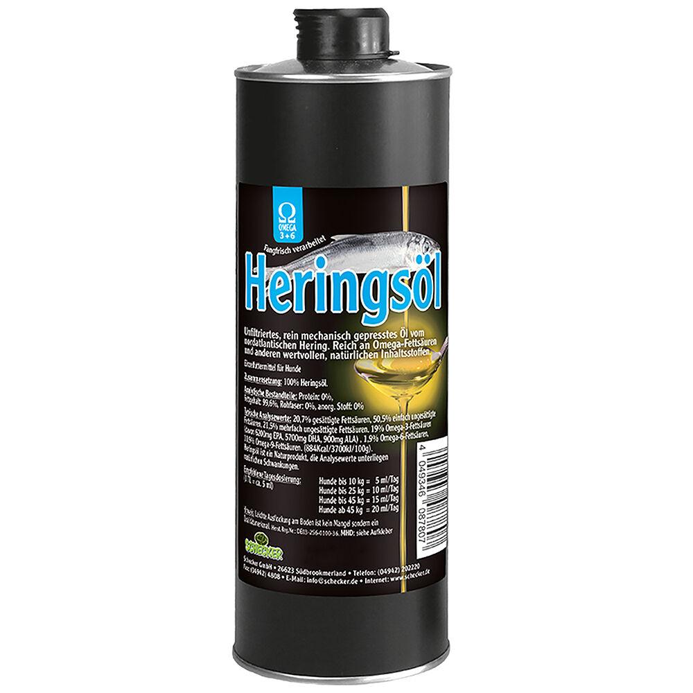 Heringsöl, Futteröl für glänzendes Fell - 1000 m