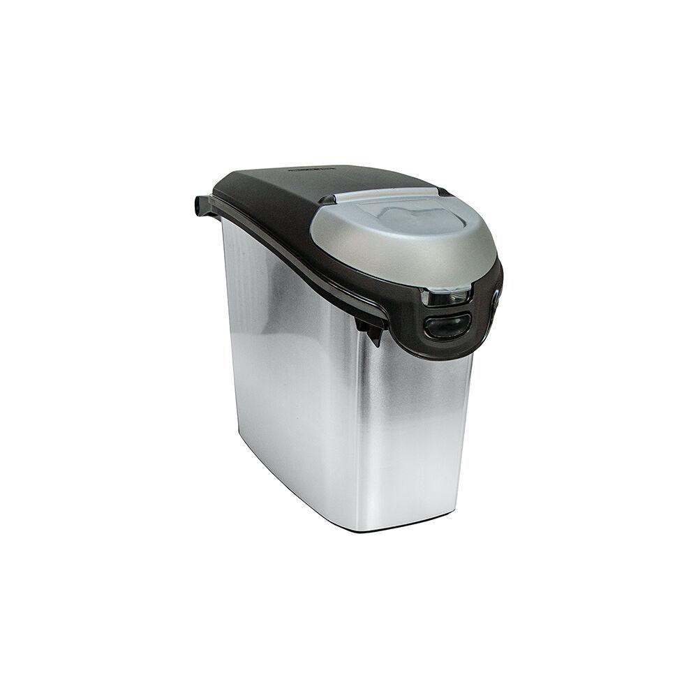 Curver Trockenfutterbehälter, Futtertonne, Futterbox Metallic - 15 Liter
