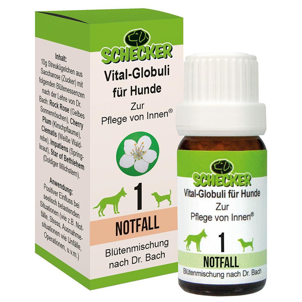 Vital Globuli für Hunde  Blütenmischung - 1. Notfall