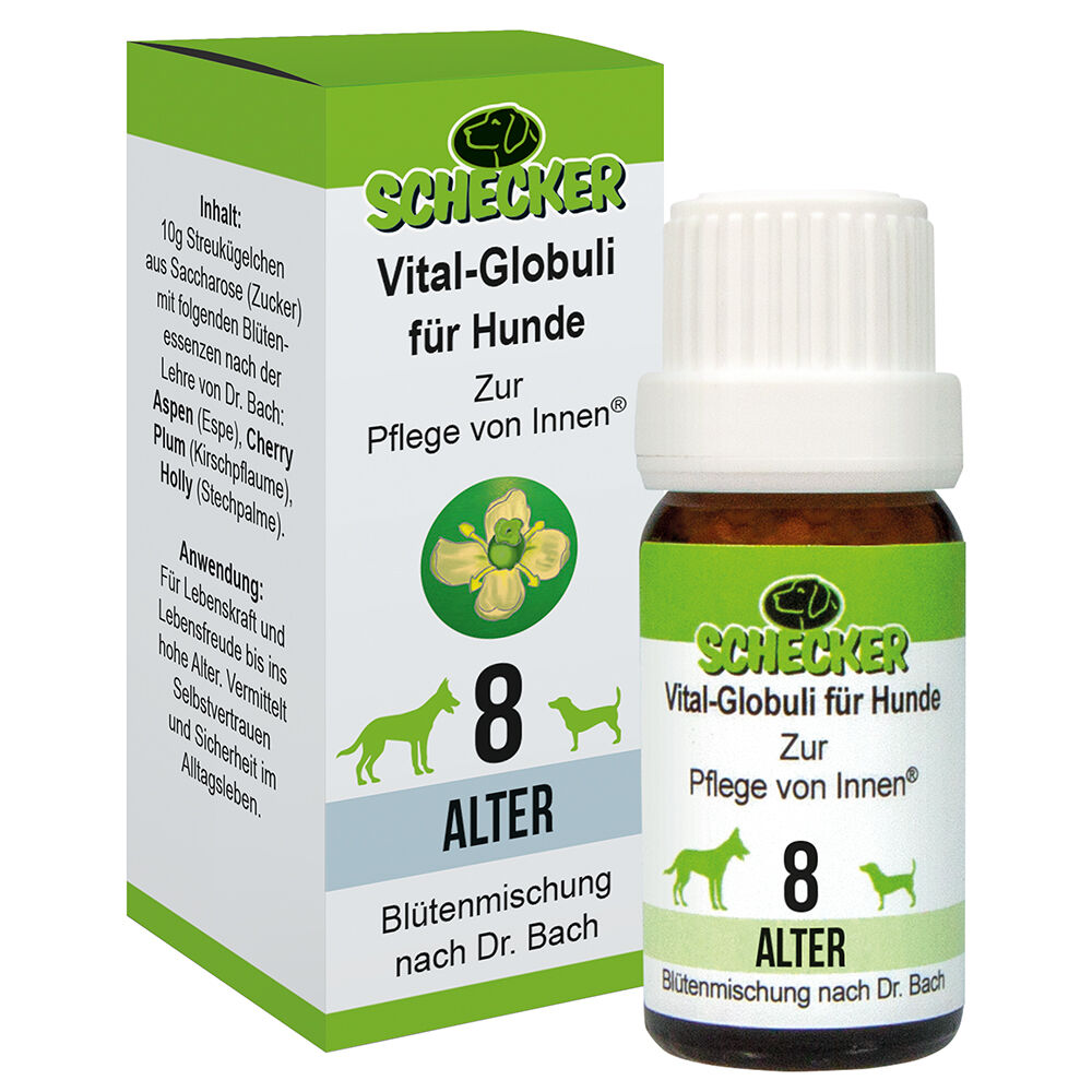 Vital Globuli für Hunde, Blütenmischung - 8. Alter