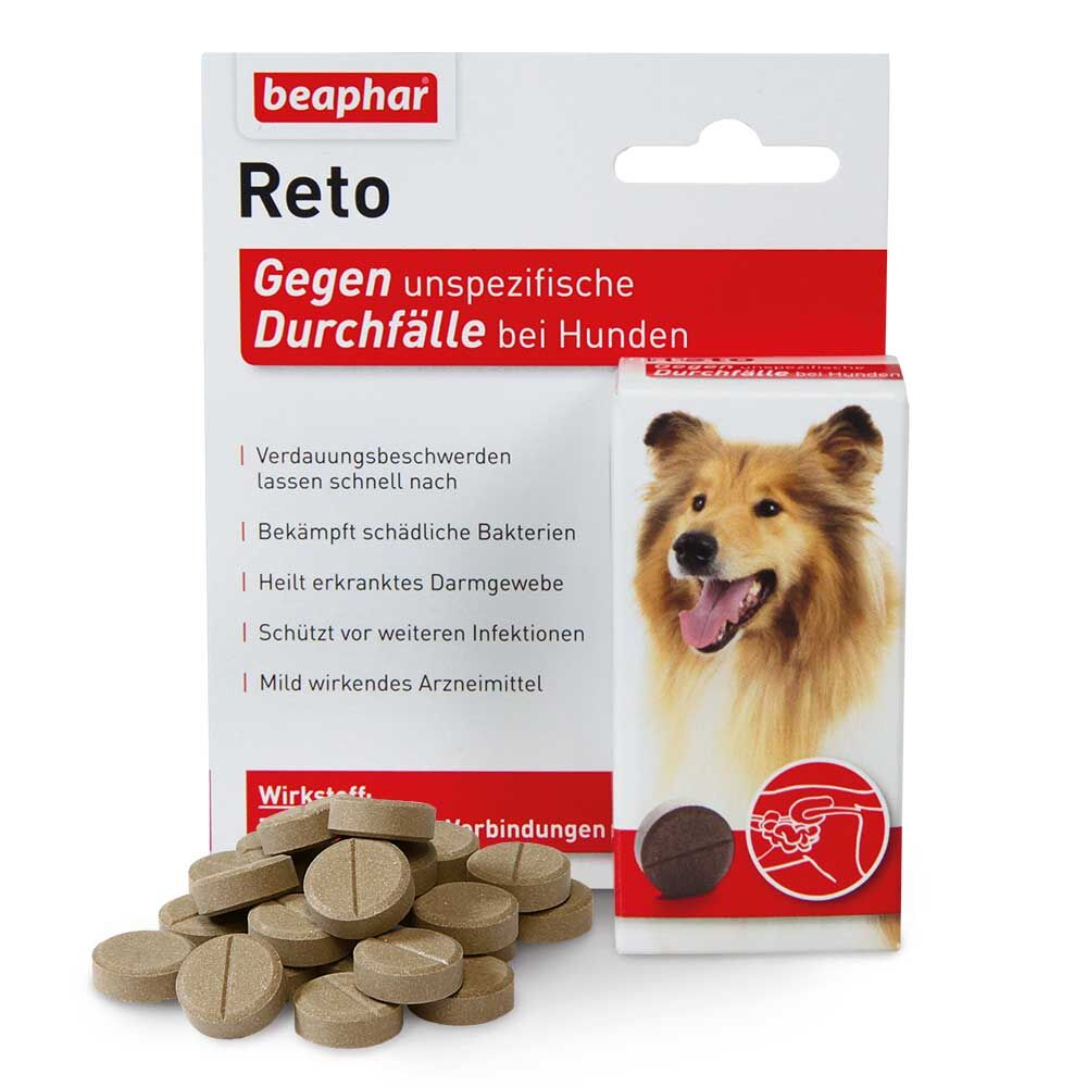 Reto, gegen Durchfall 20 g, 30 Tabletten