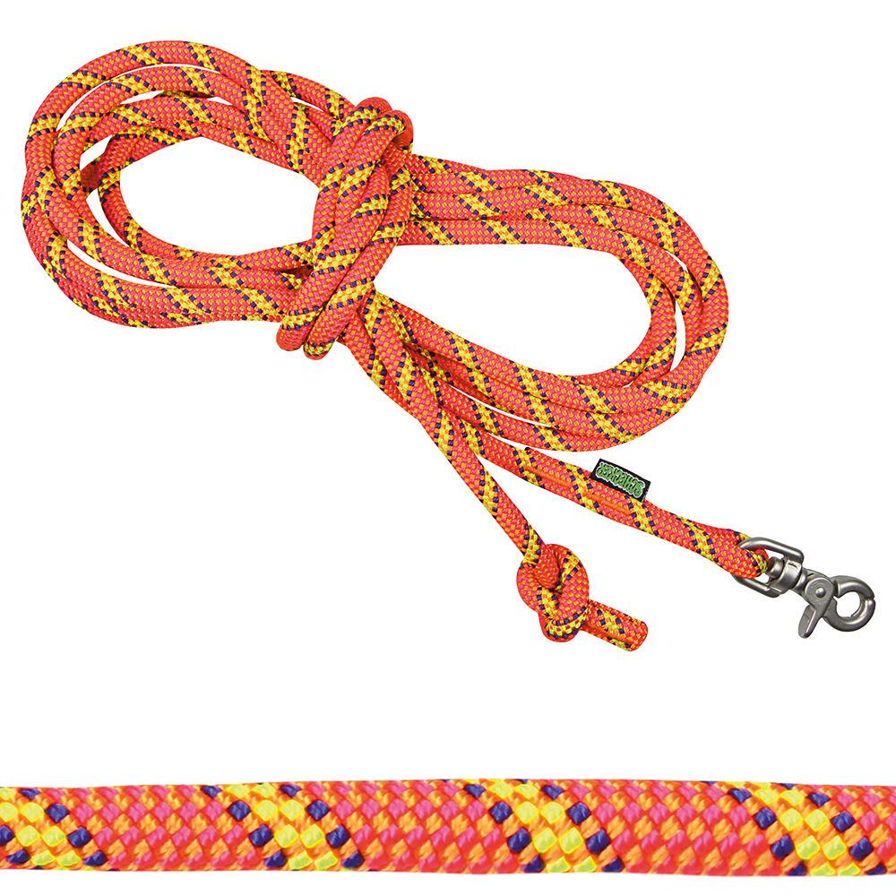 Hunde-Schleppleine Ultra 5 m, Farbe: Orange Tiger
