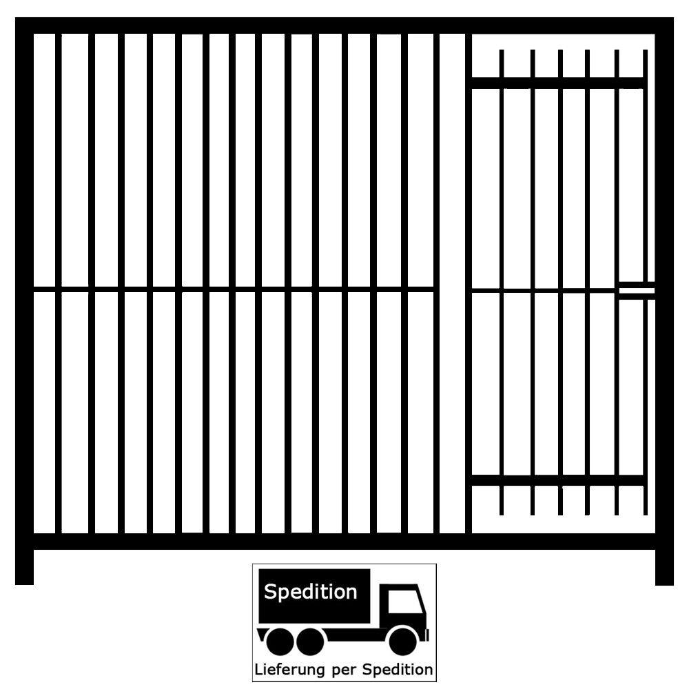 Euro-Rohrstabelement mit Tür für Hundezwinger Freigehege, Breite,100cm,Höhe,184cm,Rohrabstand 8cm