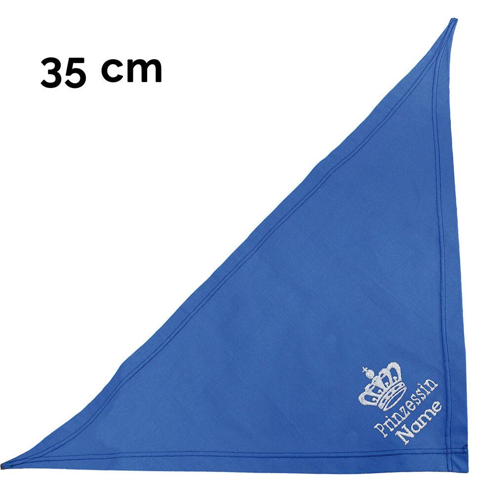 besticktes Hundehalstuch Prinzessin + Krone + Name 35 cm, Farbe: royalblau