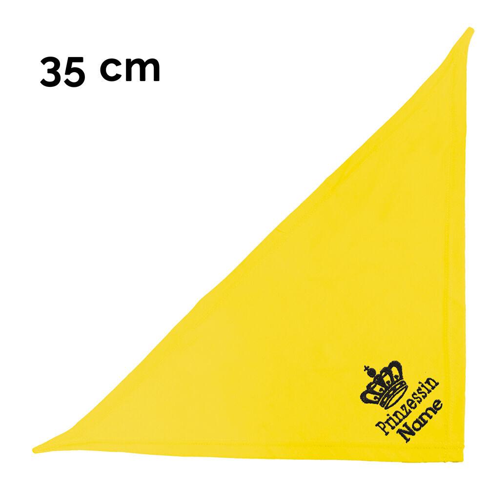 besticktes Hundehalstuch Prinzessin + Krone + Name 35 cm, Farbe: gelb