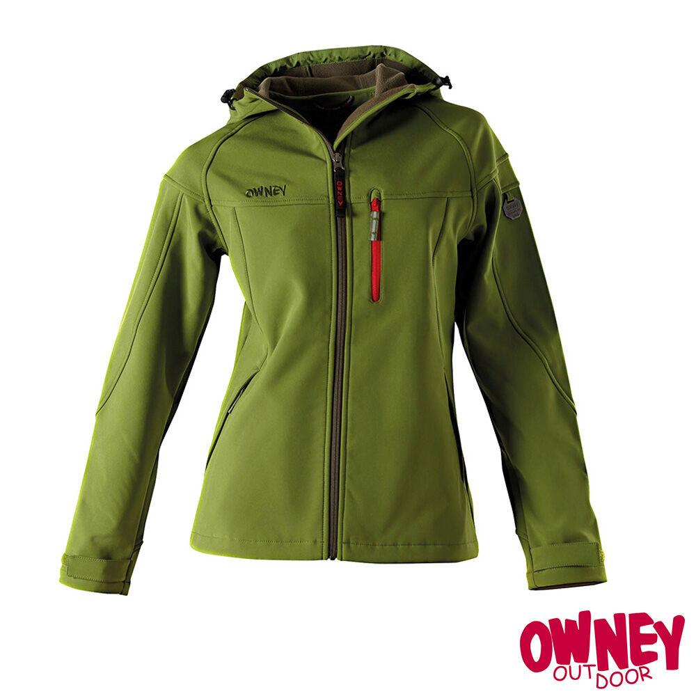 Owney Cerro Damen-Softshell-jacke, cedar green, Größe XL