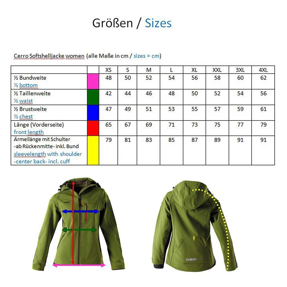 OWNEY Softshell-Jacke Damen Cerro, zedergrün  Bild 4
