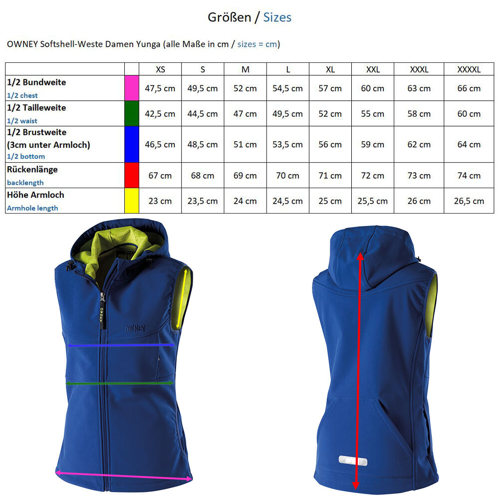 OWNEY Softshell-Weste Damen Yunga, royal blau Bild 4