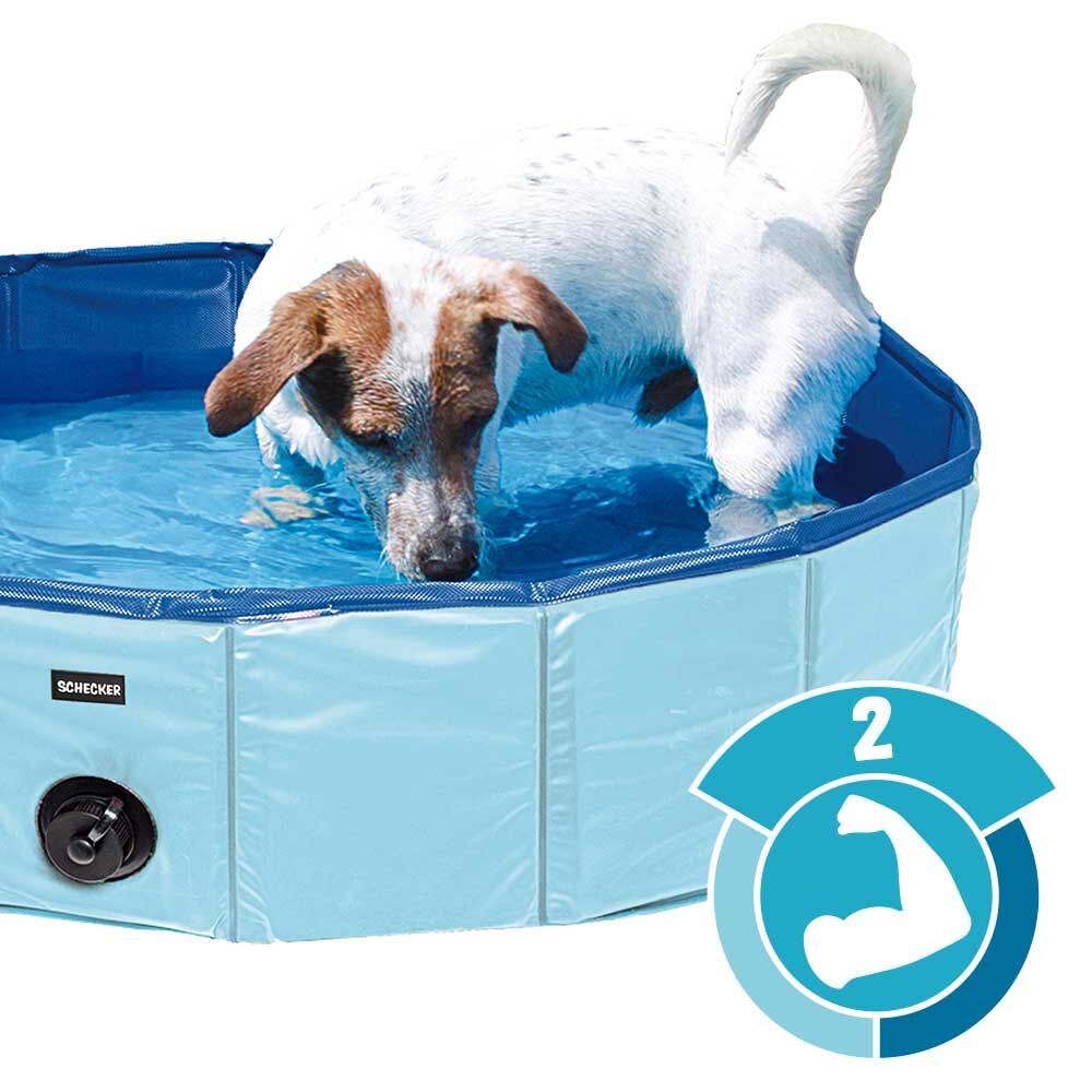 Doggy-Pool Hundepool Schwimmbecken Swimmingpool Hundebadewanne Wasserbecken, 160 cm