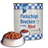 Schecko fit Fleischige Brocken in Soße - Rind, Nassfutter