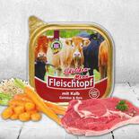 DOGREFORM Fleischtopf-Schälchen-Menü mit Kalbfleisch, Gemüse & bei Schecker