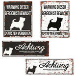 Warnschild Terrier