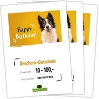 Geschenk-Gutschein zum Ausdrucken, Happy Birthday