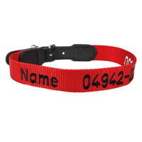 Halsband in rot mit Namenszug