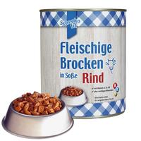 Schecko fit Fleischige Brocken in Soße, Rind, Nassfutter, 800 g