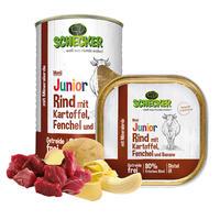 Schecker Hundemenü -Junior Rind mit Kartoffel, Fenchel und Banane