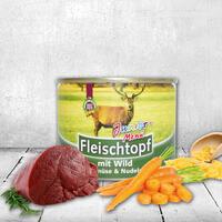 DOGREFORM Fleischtopf Junior-Menü mit Wild, Nudeln & Gemüse, 6 x 195 g