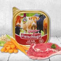DOGREFORM Fleischtopf-Schälchen-Menü mit Kalbfleisch, Gemüse & Reis, Nassfutter