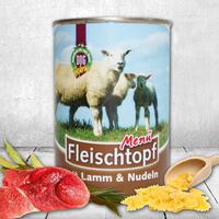 Fleischtopf-Menü,Lamm & Nudeln 1 x 410g (Hundefutter, Nassfutter, Dosenfutter)