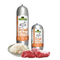 DOGREFORM Fleischwurst mit Strauß & Reis