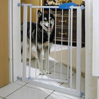 Verbreiterungs-Element für Absperrg., Metall, weiß, 7cm (Hundetransportartikel, Hundegitter, Hundebox, Hundetransportbox)