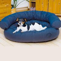 Ersatzbezug für Hundesofa dunkelblau-95x75x35cm (Hundeliegeplatz, Hundebett, Hundesofa, Hundekorb)