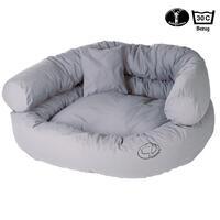 Ersatzbezug für Hunde-Sofa, Farbe: Hellgrau