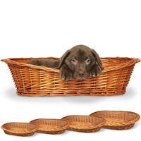 ***Weiden-Hundekorb, 120 cm (Hundeliegeplatz, Hundebett, Hundesofa, Hundekorb)