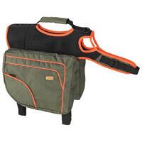 Hunde-Rucksack, Größe XL, grün / orange