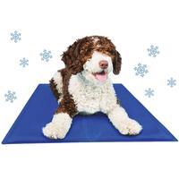 Schecker Kühl-Matten für Hunde - blau -