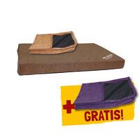 DOG ORTHO Hundebett + Ersatzbezug violett