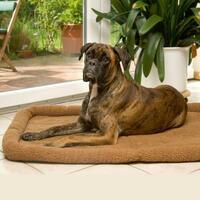 Hundebett, 135 x 95 cm, braun