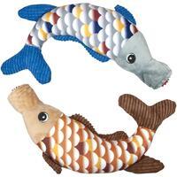 Hundespielzeug - Plüsch-Fisch mit Ball