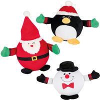 Hundespielzeug Weihnachts-Plüschball