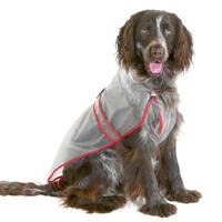Transparente Hundejacke, 42cm rot