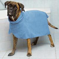 Trocken-und Badetuch für Hunde Mikrofaser - L/60 cm - blau (Hundefellpflege, Hundeshampoo)