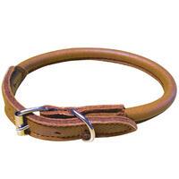 Schecker Elchleder-Halsband -rund-