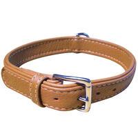 Schecker Elchleder-Halsband -flach