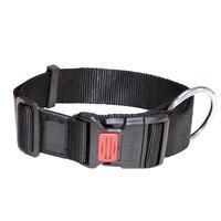 Nylon-Halsband Sportiv, Farbe: Schwarz